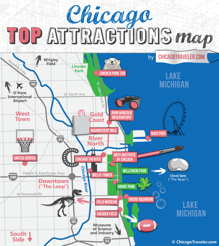 Chicago Attraction Map ABOUT CHICAGO | NCTC